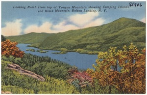 Looking north from top of Tongue Mountain showing Camping Islands and Black Mountain, Bolton Landing, N. Y.