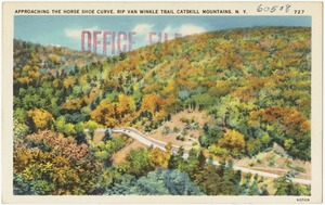 Approaching the horse shoe curve, Rip Van Winkle Trail, Catskill Mountains, N. Y.