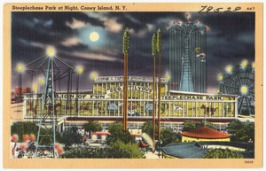 Steeplechase Park at night, Coney Island, N. Y.