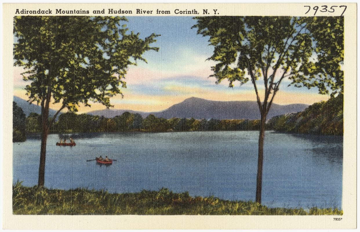 Adirondack Mountains and Hudson River from Corinth, N. Y.