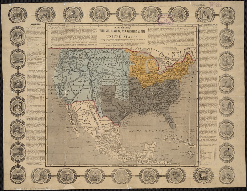 Lewis' free soil, slavery, and territorial map of the United States