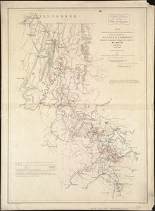 Map showing the operations of the national forces under the command of Maj. Gen. W.T. Sherman during the campaign resulting in the capture of Atlanta, Georgia, Sept. 1, 1864