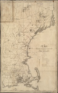 A map of the yearly meeting of Friends for New England A.D. 1833