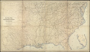 Rail road map of the southern states shewing the southern & southwestern railway connections with Philadelphia