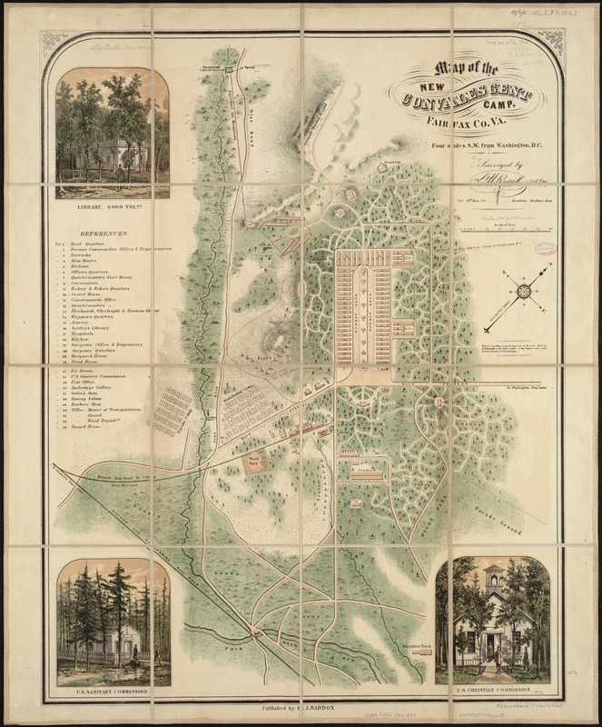 Map of the new convalescent camp