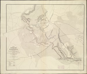 Map of the battle fields of the Wilderness May 5th, 6th, and 7th, 1864