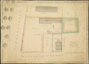 Plan of an estate in Boston belonging to Jos. Head Esqr