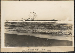 "English ship ""Jason"" wrecked in Truro, December 7, 1893"