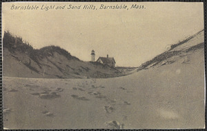 Barnstable Light (Sandy Neck Lighthouse) and sand dunes taken from the north side of Sandy Neck looking south