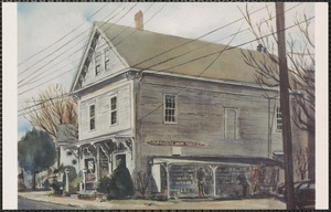 Painting of Parnassus Book Service, 220 Old King's Highway, Yarmouth Port, Mass.