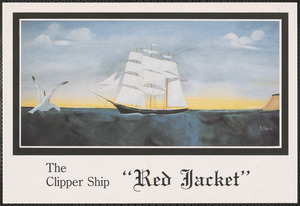 Painting of clipper ship Red Jacket by D. Davis