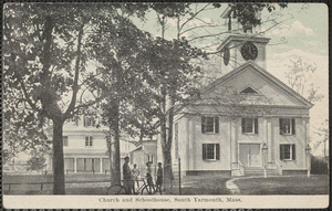 Methodist Church and schoolhouse, Old Main St., South Yarmouth, Mass.