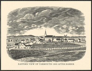 Eastern view of Yarmouth 1840 after barber