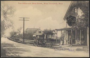 Post office, Main St., West Yarmouth, Mass. with women on porch