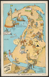 Whimsical map of Cape Cod
