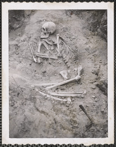 Indian skeleton found in West Yarmouth, Mass. in 1966