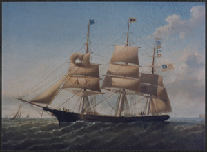 "Painting of ship ""Asa Eldridge"""