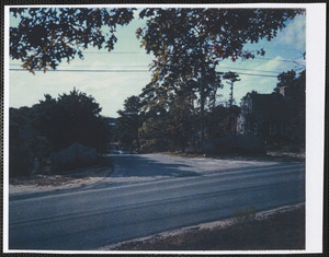 Follins Bay Rd. and Mayfair, Dennis, Mass. in foreground, photo taken from site of first Friends Meetinghouse looking west toward Bass River