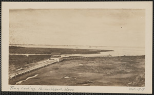 Town landing, end of Wharf Lane, Yarmouth Port, Mass.