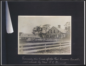 127 River St., South Yarmouth, Mass., former home of Rev. Simeon Crowell and later Mrs. F. S. Churchill