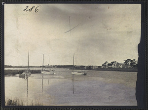 Bass River looking South, Isaiah Crowell House, 34 Pleasant St., South Yarmouth, Mass.