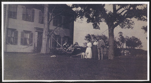 The Crowell Homestead with family members and friends