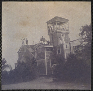 """""""Creltholme"""" residence of Joshua Crowell, South Sea Ave., West Yarmouth, Mass."""