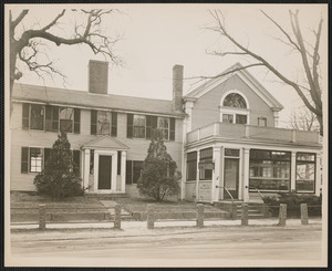 First National Bank of Yarmouth on right, residence of Thomas S. & Isabella H. Crowell on left