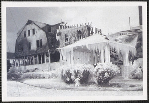 Hotel Englewood, West Yarmouth, the day after the fire