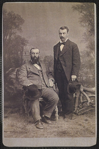 Brothers: Barnabas C. Howes (on left) and Cyrus Howes (on right)