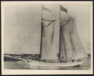 "Schooner ""David K. Akin"" at Railroad Wharf, Hyannis"