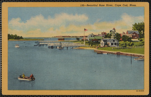 Bass River looking south, red house at right is 34 Pleasant St., South Yarmouth, Mass.