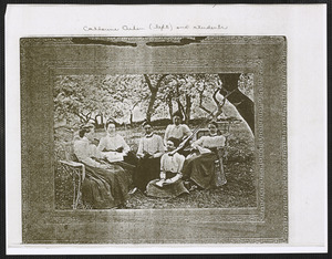 Catharine Aiken (1811-1902) and students