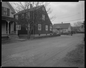 #30 Pagum St. and #169 + 170 Columbia looking SWly from N side of Pagum St., Dec. 9, 1936