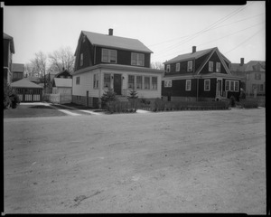 #11 and #15 Wheeler St. looking SEly from in front of #20, April 14, 1936