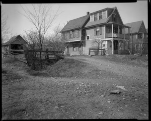 #29 Nevada Ave. and garage looking westerly from street, April 14, 1936