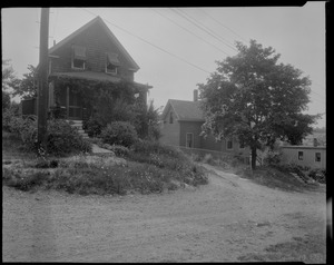 #12 and #16 Brentwood St. view looking SEly from street, July 18, 1936