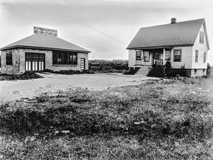 #136 Hadley St. view of house and workshop looking NEly, July 18, 1936