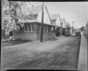#11 Highland Ct. looking NWly from street, Oct. 16, 1935
