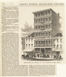 Fowle's new iron building, No. 164, Washington Street, Boston