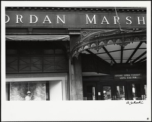 Old Jordan Marsh building, side entrance off of Summer street (?)