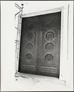 Bronze doors. New England Merchants Bank. State & Congress Streets