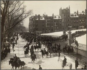 Beacon St. State House during Prince Henry's visit