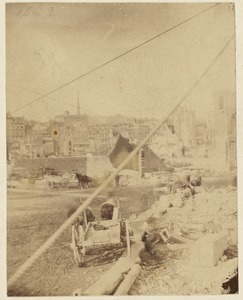 Devonshire and Franklin Sts., after the Boston Fire. 1872