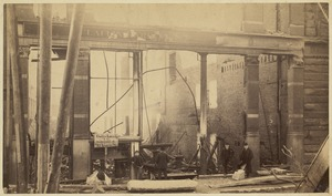 Boston Fire of 1872, remains of Claflin Larrabee building