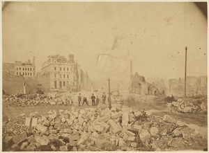 Boston Fire, 1872. Showing post office building