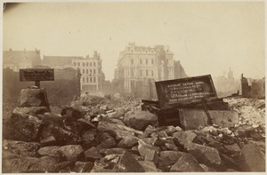 Federal, corner of High St. 1872. After the fire of November 9-10