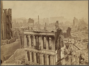 View near Old South Meeting House 1872, photograph