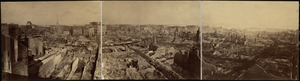 """Photographic panorama of the """"Burnt District"""" of Boston, after the Great Fire, November 9, 10, 1872"""
