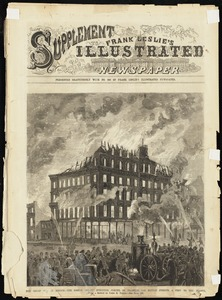 "The Great Fire in Boston. The Boston ""Pilot"" Buildings, corner of Franklin and Hawley Streets, a prey to the flames"